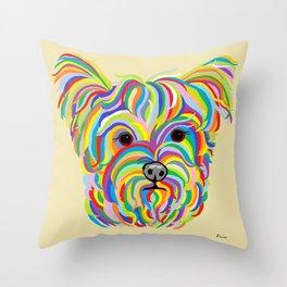 Yorkshire Terrier - YORKIE! Throw Pillow