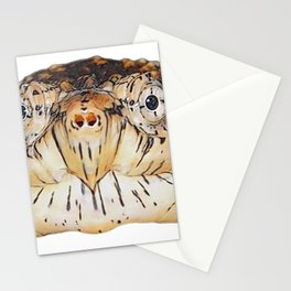 Snapping Turtle Face Reptilia Clean Wise Hole Nose Stationery Cards