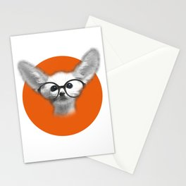 Fennec Fox wearing glasses Stationery Cards