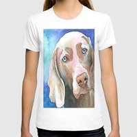 greg guillemin T-shirts featuring Greg The Weimaraner by bmeow