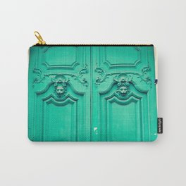 Paris door, turquoise Carry-All Pouch