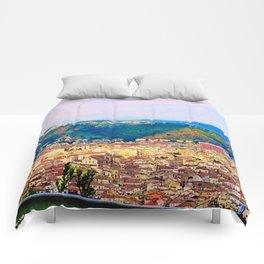 Italian Cityscape Comforters