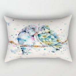 Mr & Mrs Snugglepots [pacific parrotlets] Rectangular Pillow