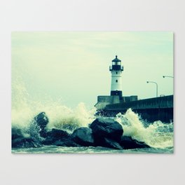 Breakwater Lighthouse - 2 Canvas Print