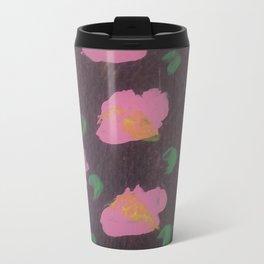 Pink Flower Abstract Travel Mug