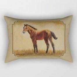Bay Quarter Horse Foal Rectangular Pillow
