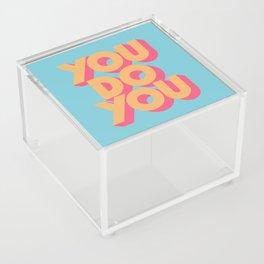 You Do You Retro Blue Acrylic Box