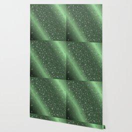 silver music notes metall green Wallpaper