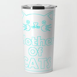 Mother Of Cats Colorful Travel Mug