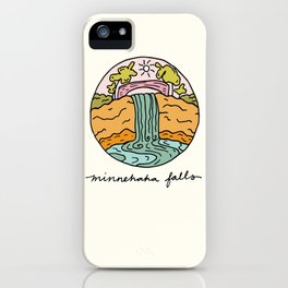 minnehaha falls illo iPhone Case