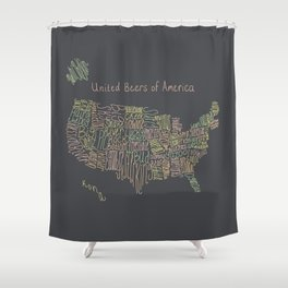 United Beers of America Shower Curtain
