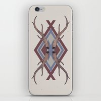 antlers iPhone & iPod Skins featuring Antlers by Ben Bauchau