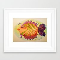 potter Framed Art Prints featuring MRS. POTTER by Caribbean Critters Co.