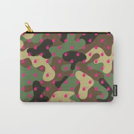 CAMO & HOT PINK BOMB DIGGITYS ALL OVER LARGE Carry-All Pouch