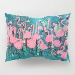:: Flamingos Among Us :: Pillow Sham