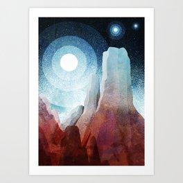 A rocky world Art Print