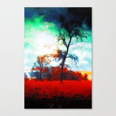 Fallen Leaves - Painting Style Canvas Print