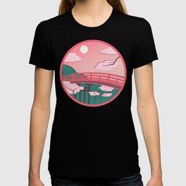Japanese bridge in bright colors T-shirt