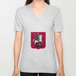 Coat of Arms of Moscow Unisex V-Neck