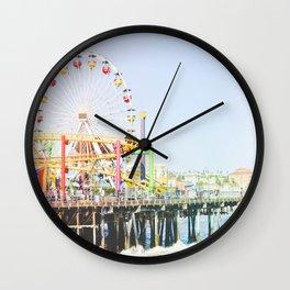 Santa Monica Pier Wall Clock