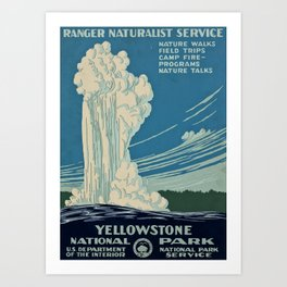 Yellowstone Works Progress Administration Art Print
