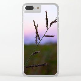 Grass Seed Sunset Clear iPhone Case