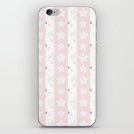 Stars Stripe, January Stars blush and gray iPhone Skin