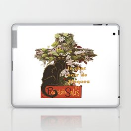 Easter Le Chat Noir de Paques With Floral Cross Laptop & iPad Skin