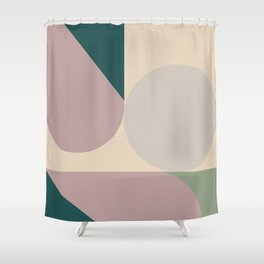 Contemporary Composition 11 Shower Curtain