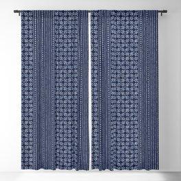 Thai Indigo Batik 3 Blackout Curtain