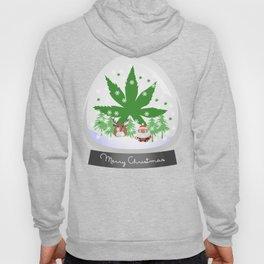 Merry Christmas Marijuana Snow Globe Hoody