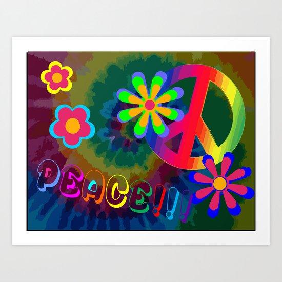 peace !!! Art Print