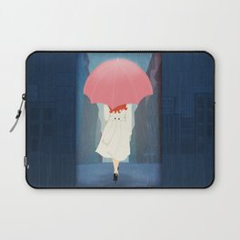 She Went Walking In The Rain Laptop Sleeve