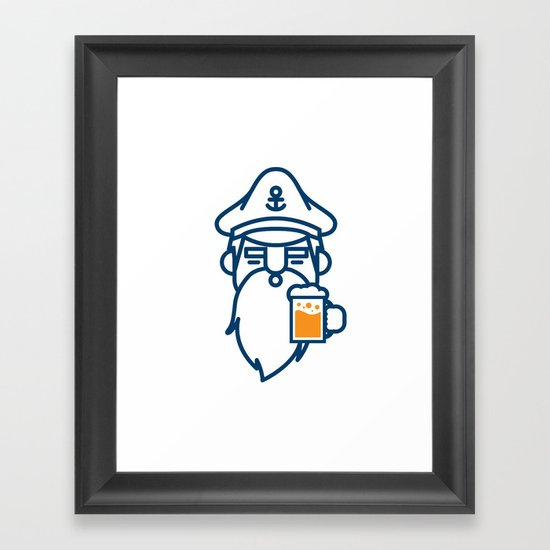 beard & beer  Framed Art Print