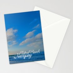 Fistral Beach, Newquay, England Stationery Cards