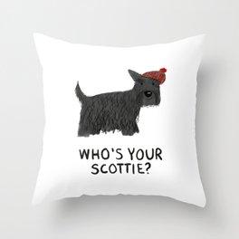 Who's your Scottie? Throw Pillow
