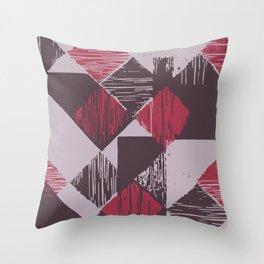 Rhomb 3 colours Throw Pillow