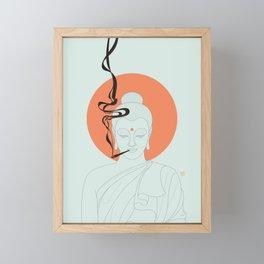 Buddha : Give Peace a Chance! Framed Mini Art Print