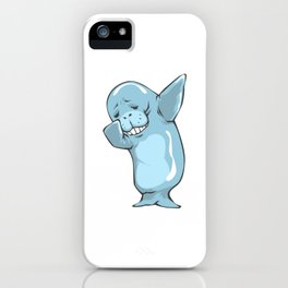Dabbing Manatee Funny Sea Cow Dab Dance iPhone Case