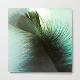 """Light As A Blue Feather"" Metal Print"