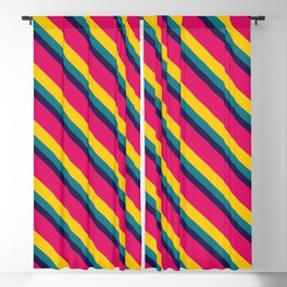 retrò vintage pattern Blackout Curtain