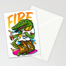 El lagarto Stationery Cards