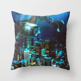 City Cruising Throw Pillow