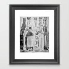 Bottles Framed Art Print