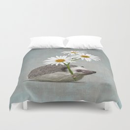 Hedgehog in love Duvet Cover