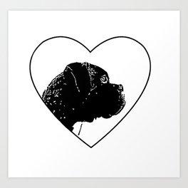 Love Boxer Dog Art Print