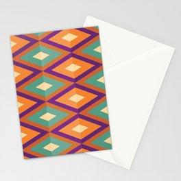 Pattern orange green Stationery Cards