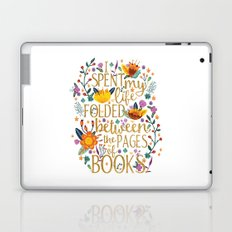 Folded Between the Pages of Books - Floral Laptop & iPad Skin