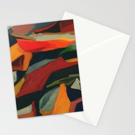 Lessons To Learn Abstract Landscape Stationery Cards