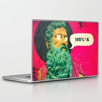 attack on titan Laptop & iPad Skins featuring Titan by Alec Goss